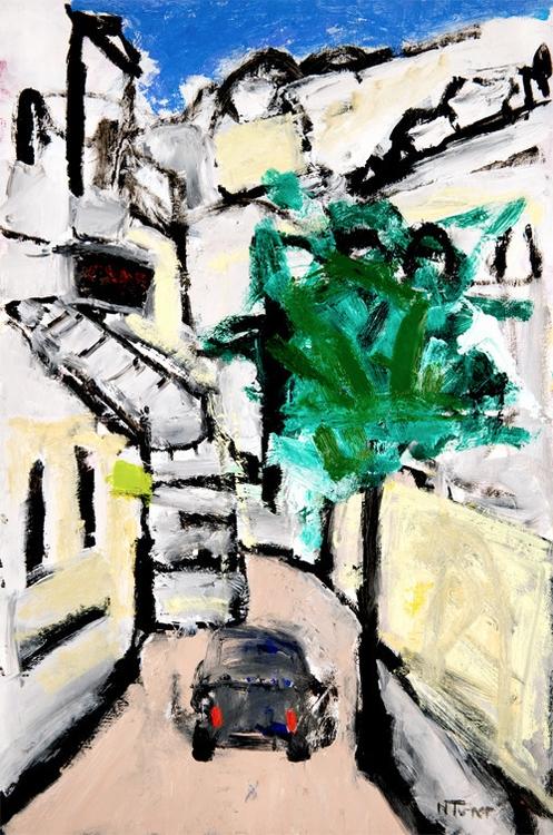 Rue de Cluny, Paris Oil paper 1 - nealturner | ello