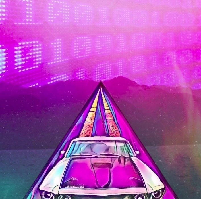 nice edit - car, retro, mountains - cybercitypunk | ello