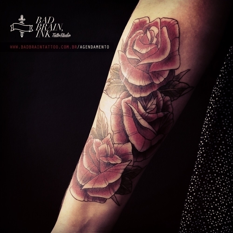 tattoo, roses, neotraditional - _i_baliberdin | ello
