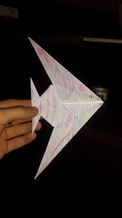 Reindeer, dragon, fish, crane - origami. - shardsofnarsil | ello
