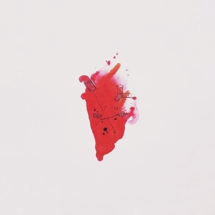 Heart Spill - heart, illustration - pandeindia | ello