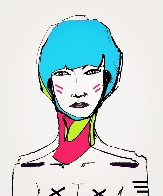 Warrior - illustration, art, print - jearhee | ello