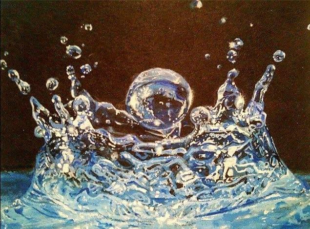 water droplet artwork acrylic a - finnireland | ello