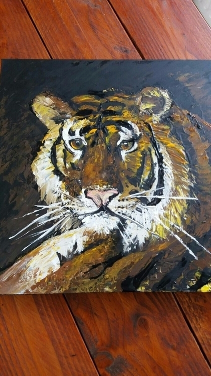 Cleoart#painting#paletteknives#acrylic#tiger#Kats#wildlife#nature#natureart#art - cleoart | ello