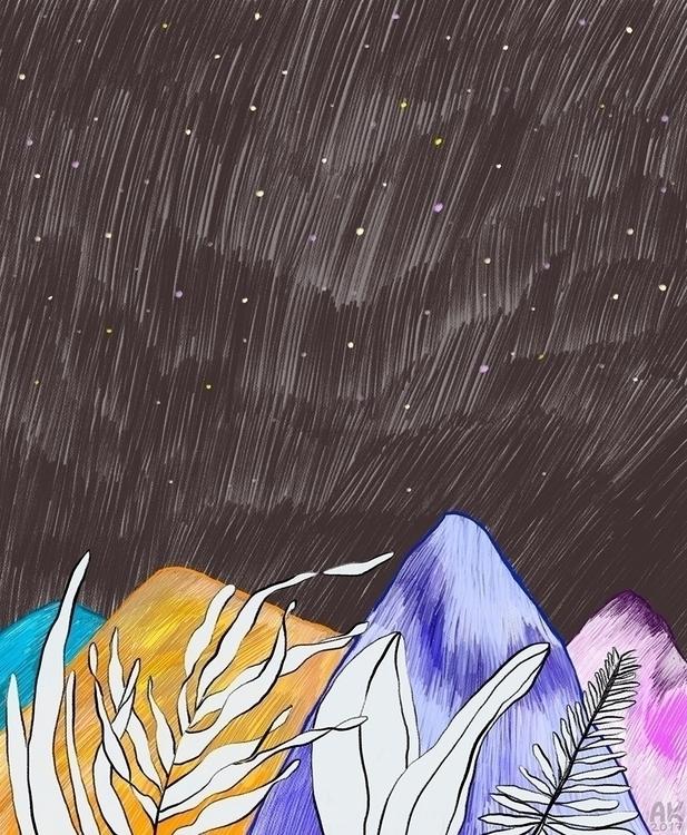 Mountains 874 - illustration - annaku | ello