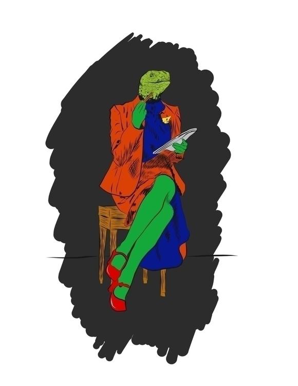 HalfHuman, art, digitalart, sketch - metafacej | ello