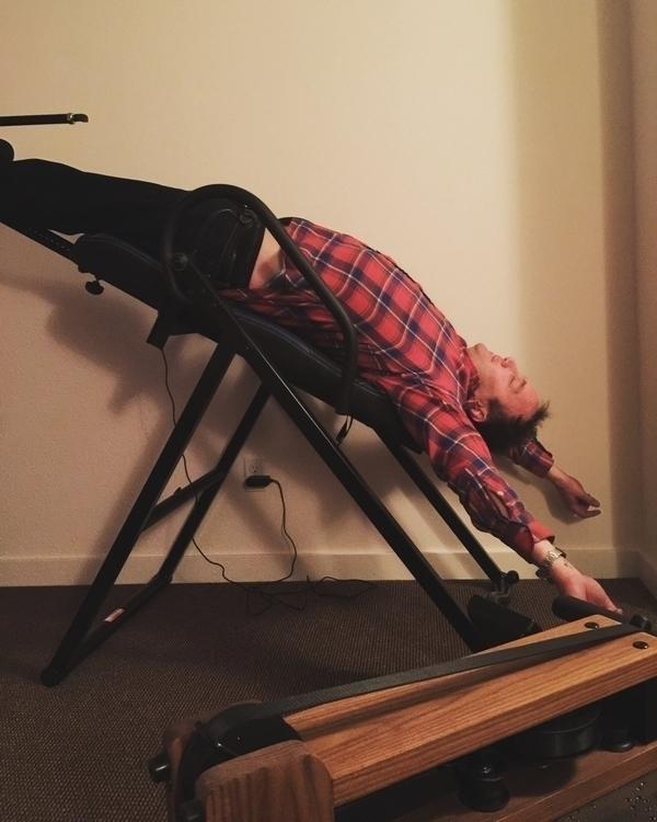 Jay Mohr hanging upside ankles  - loganlynn | ello