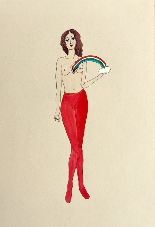 kunst, drawing, woundedheart - lorettamae   ello