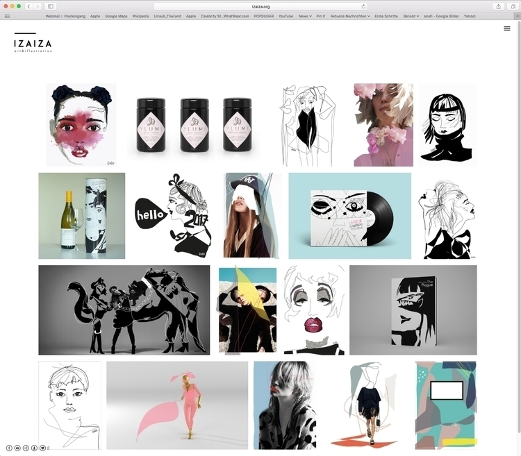 brand Website finally completed - izaiza | ello