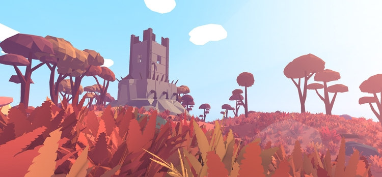 Towers fitting nicely biome - 3D - floatlands | ello