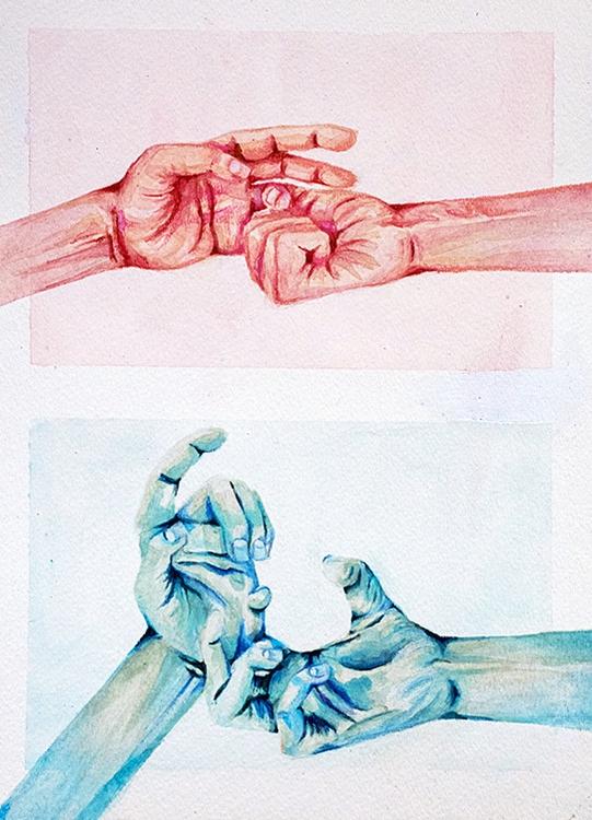 seek - art, watercolors, elloart - rhemy   ello