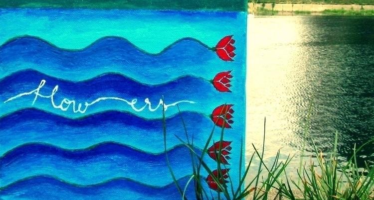 Flower people. (acrylic canvas - atlantul | ello