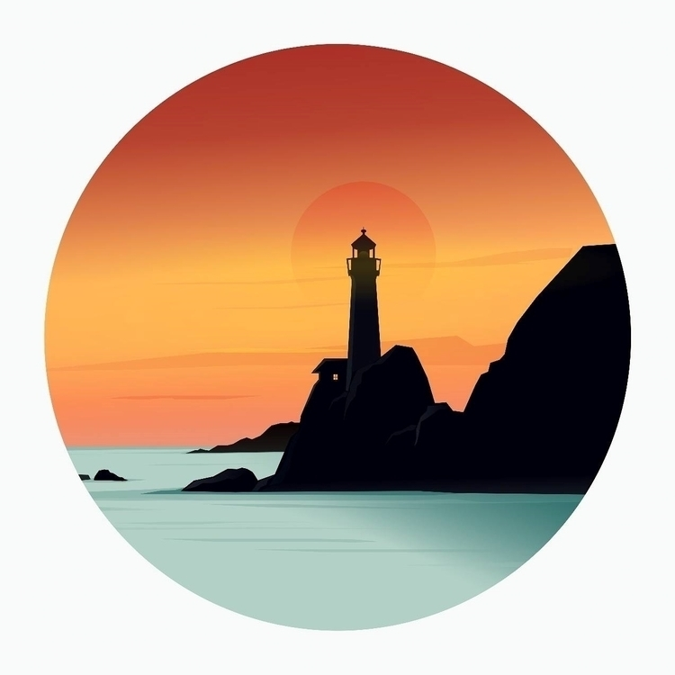 light house vector drawing Inks - ozant291 | ello