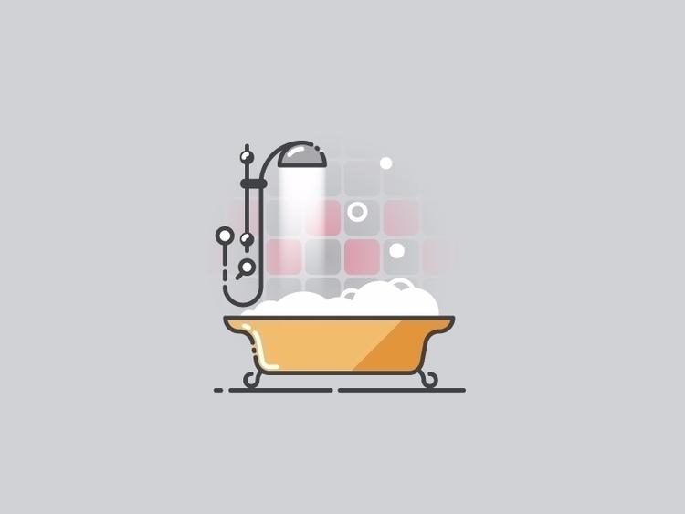 Time bath - vector illustration - kirp | ello