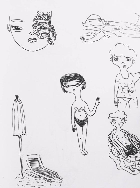 beach - illustration - coffeeglow | ello