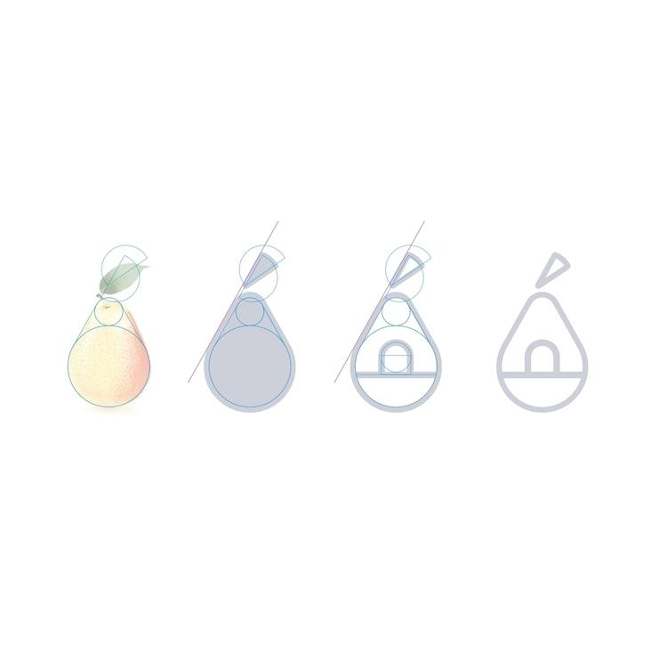 Logo construction. Link: weresw - swelldesign | ello