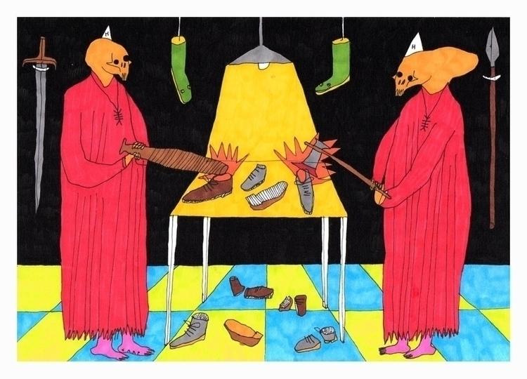 Massacre shoes. A5, 2017 - art, hell - carpmatthew | ello