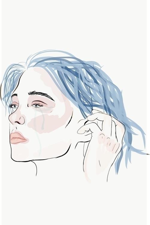 Liar - BlueisthewarmestColour, illustration - redlipsivania | ello
