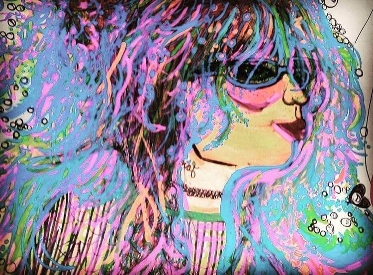 art, drawing, chalkmarkers, bubbles - katroselamb   ello