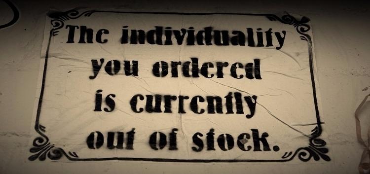 individuality ordered stock - streetart - krimiblogger | ello