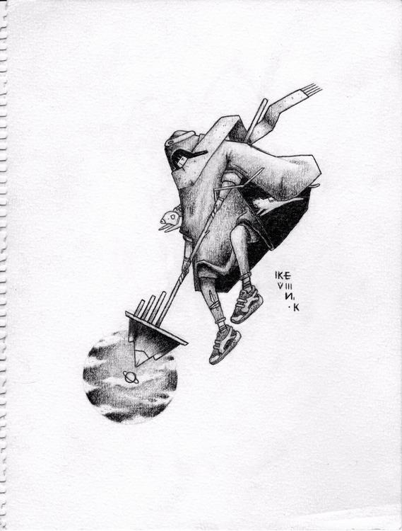 pencil raw paper I5xII cm - kevin_kuenstler | ello