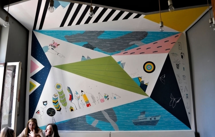 mural painting CAFENEAUA PAPILL - alinabradu | ello