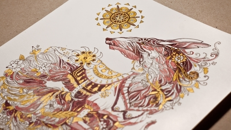 Serpent Rat - Golden edition - kape_illustration | ello