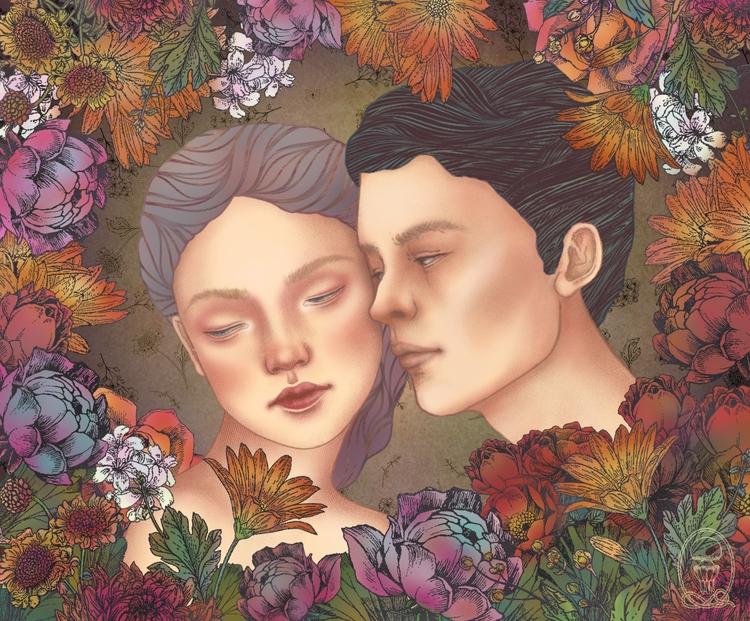 Lovers (digital illustration -  - trillian5050 | ello