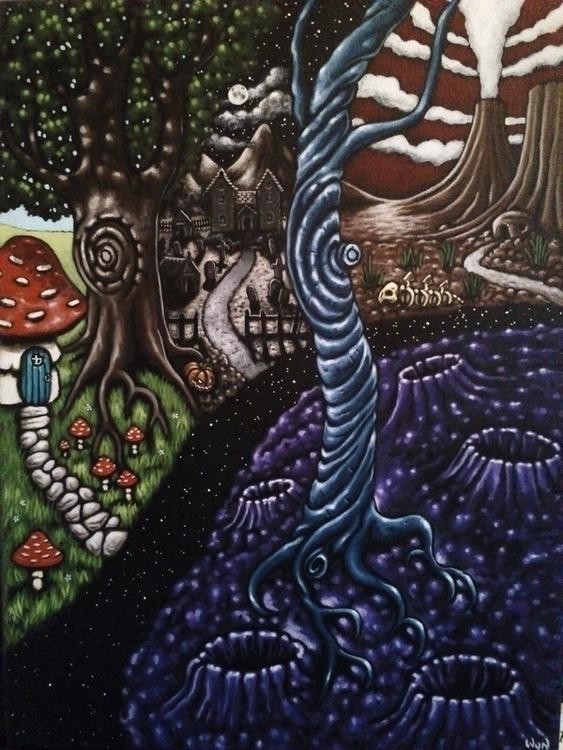 'Worlds Escape' painted acrylic - wynsexon | ello