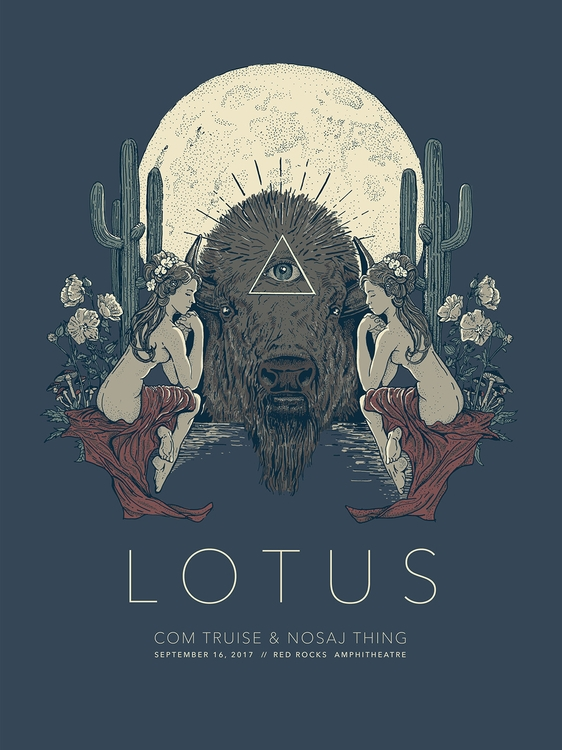 Fun poster Lotus Red Rocks show - andrewhoffman | ello
