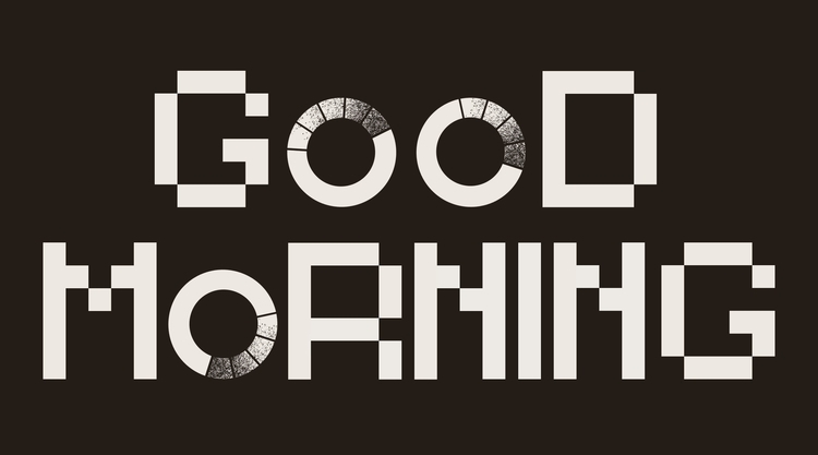 hang loading - typography, pixel - angchor   ello