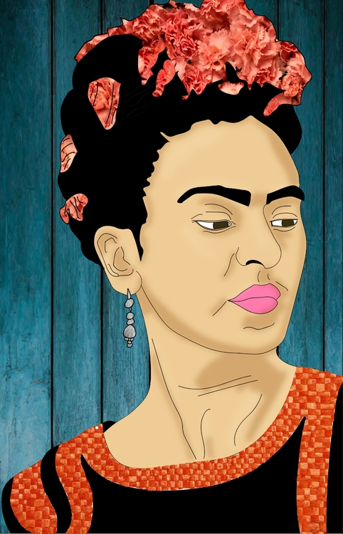 Lámina Frida Kahlo - illustration - irenizlo | ello