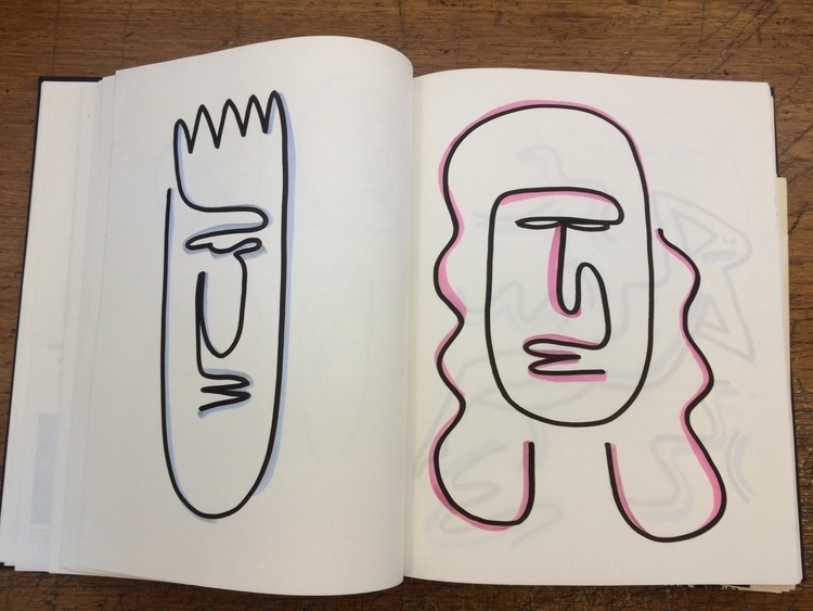 sketchbook, loose, ink, illustration - mitsubishiufjfinancial | ello