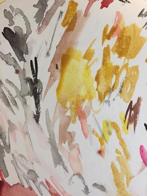work watercolor, scratch sheet  - streger | ello