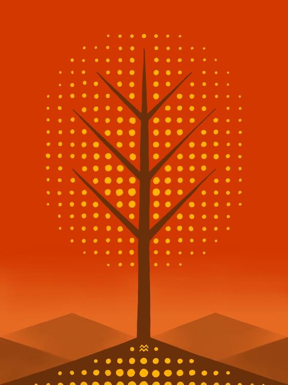 landscape tree: fall - miriamdraws - miriamdraws | ello