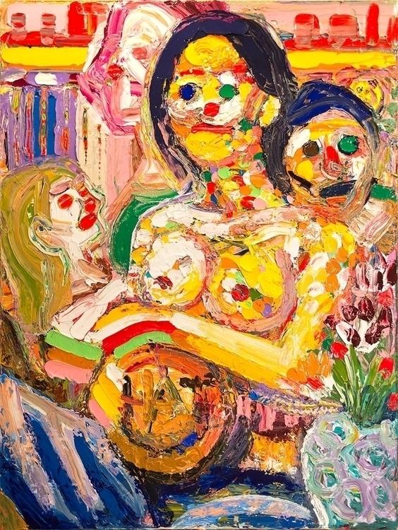 Screaming Beauty Acrylic canvas - chunbumpark | ello
