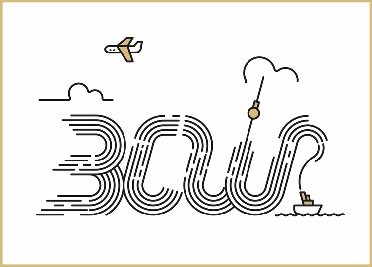 Illustration lettering study - illustration - satoboy | ello