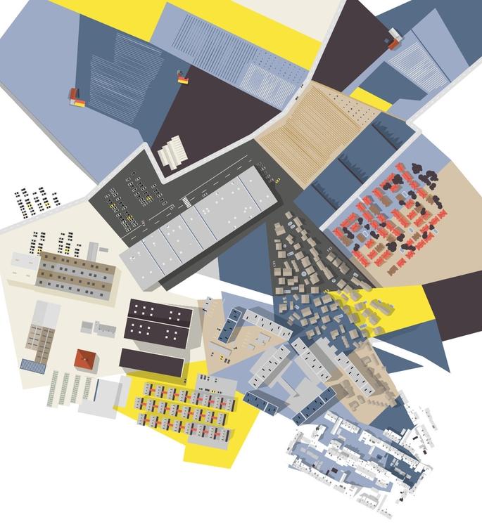 Urban Landscape - illustration, abstract - martin_carrese | ello
