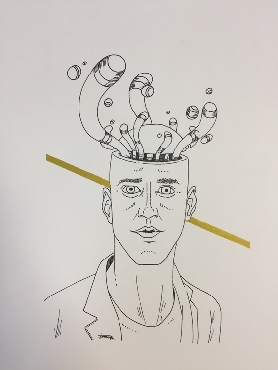 sans mémoire / man memory - illustration - jimmy-draws   ello