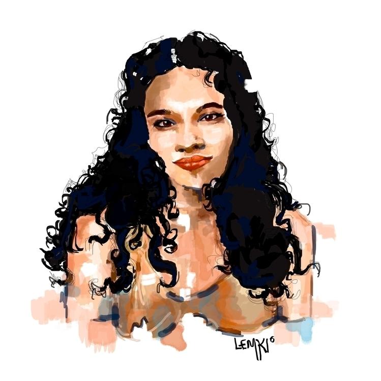 Norah Jones digital portrait - lemkiteo | ello