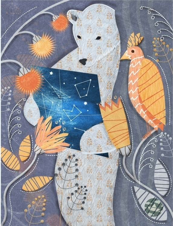 Bear - illustration, animation, painting - lidiatomashevskaya | ello