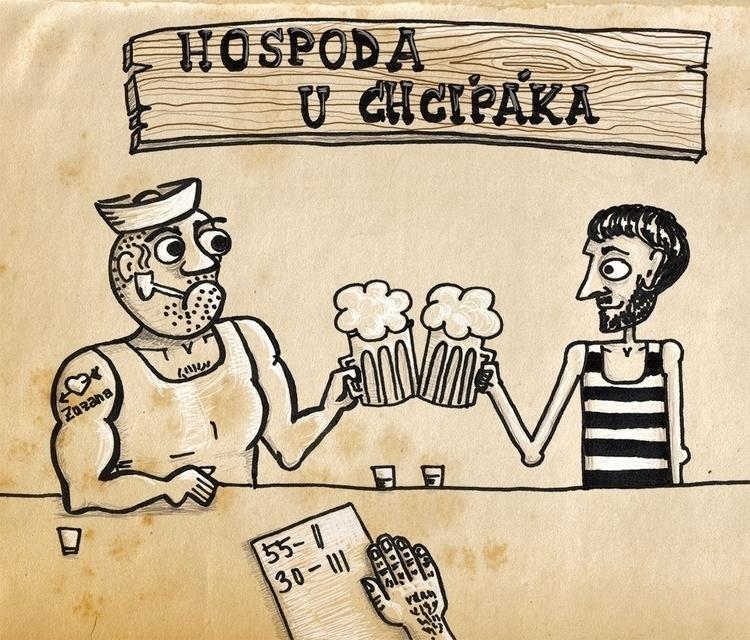 Illustration sailors - sailor, beer - monika-1067   ello