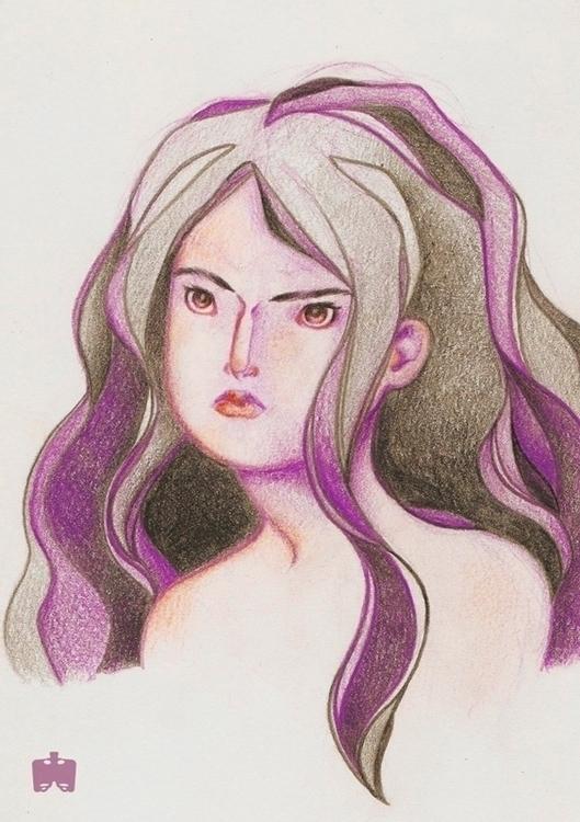 studies | girl bust - illustration - nanofemur | ello