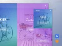 Free .psd + .sketch home page B - vinque | ello