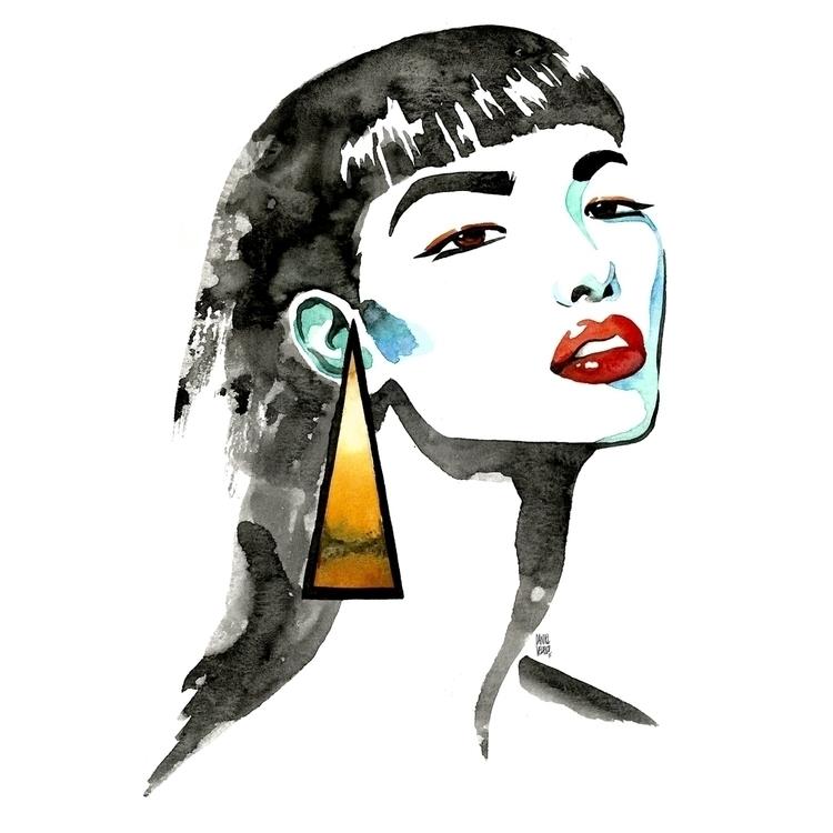 FeiFei Sun Portrait - fashion, illustration - danvelasco | ello