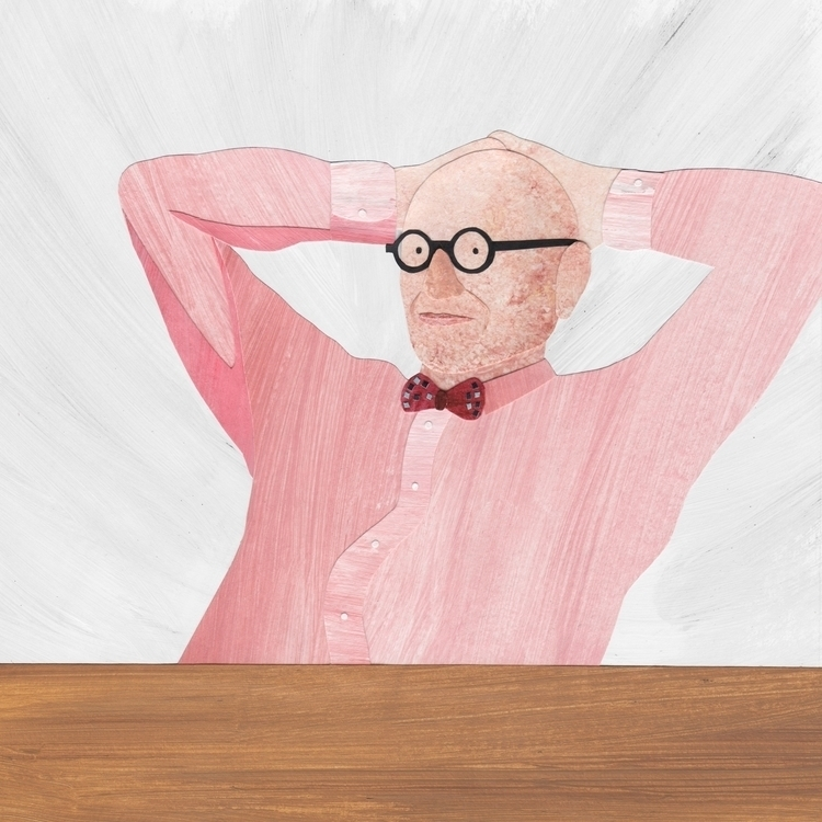 Wally Olins Wall project - illustration - staceyknights | ello
