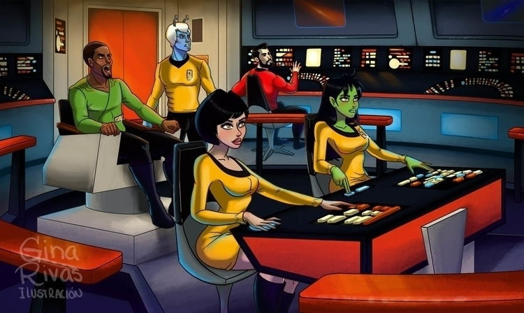 Star Trek. Teamwork - fanart, startrek - ginarivas | ello