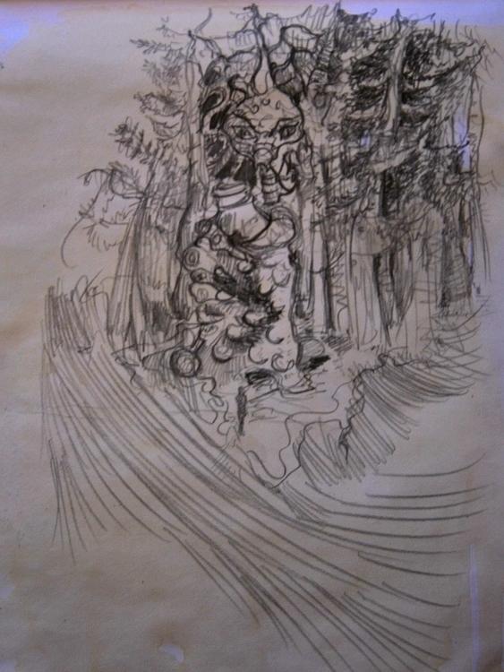 woods - illustration, characterdesign - wickedbastet1982 | ello