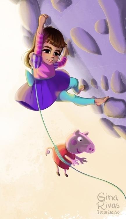 Climber princess - climbing, pig - ginarivas | ello