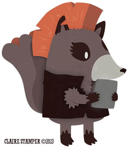 Reading Raccoon - Promotional i - clairestamper | ello
